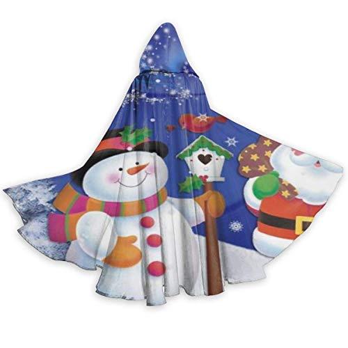 Amanda Walter Santa Claus y mueco de Nieve Capa de Halloween Capa Elegante con Capucha con cordn Traje de Bruja Fresca para Adultos Capa de Fiesta Extra Larga CLK-065