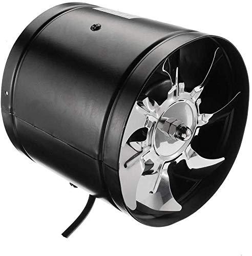 Vent ventilador de ventilación del ventilador del habitáculo silencioso duradero Instalación Rápida de cobre de bajo ruido de metal 8 pulgadas 1023 (Color : Black)
