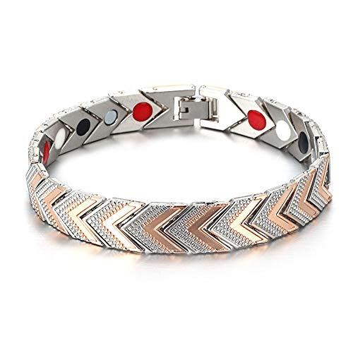 DC CLOUD Magnetisches Armband Magnet-Armband Heilendes Armband Abnehmen der Kette Fettverbrennende Armbänder Gewichtsverlust Armband Therapie-Armband Rose Gold