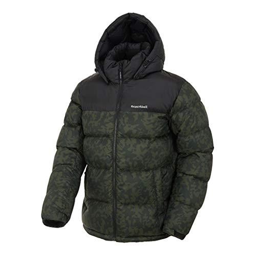 mont-bell Men's Goose Down Parka Waterproof Warmest Outerwear with Hood BakerⅢ Winter Jacket 5 Colors (Khaki, Medium (100))