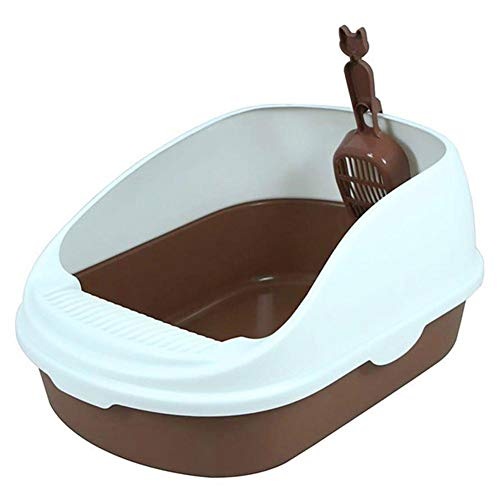 Cherry-Lee Cat Litter Boxes with Cat Litter Scoop Cat Sandbox Semi-Enclosed Large Environmentally-Friendly Cat Toilet Cat Pot