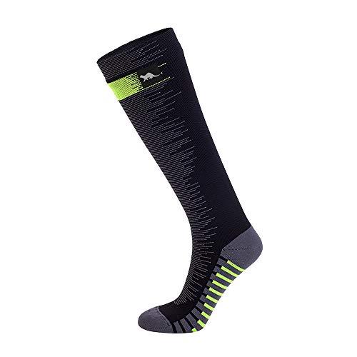 OTTER Calcetín impermeable hasta la rodilla para clima frío con lana merino (Grande(43-46), Negro - Long)