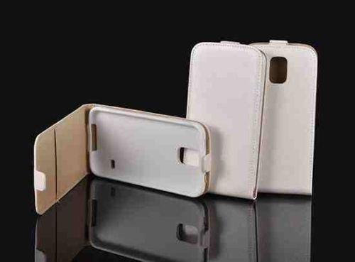 Unbekannt Leder-Imitat Flexi weiß für Nokia Lumia 550 Microsoft Lumia 550 Microsoft 550 Hülle Etui Flip Cover Flexi Silikon Klapp Tasche
