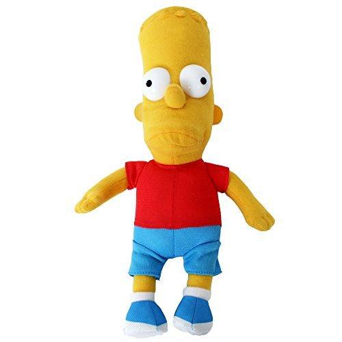 TE-Trend Simpsons Mercancías Muñeca de Trapo Tela Figuras Simpsons Muñeca Barba Homer Simpson 25CM - Bart Simpson