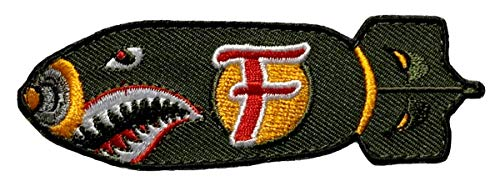 """Dropping F Bomb WW 2 Style Tactical Patch [3.5 x 1.0 -""""Velcro Brand"""" Fastener-FB8]"""