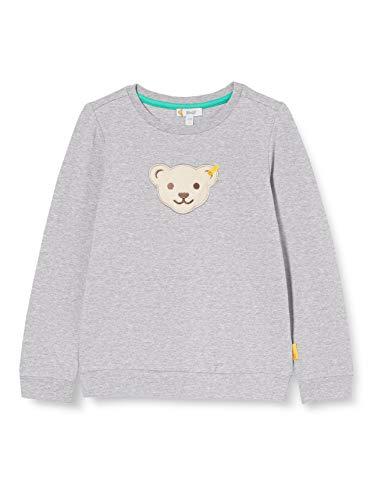 Steiff Jungen Sweatshirt, Soft Grey Melange, 110