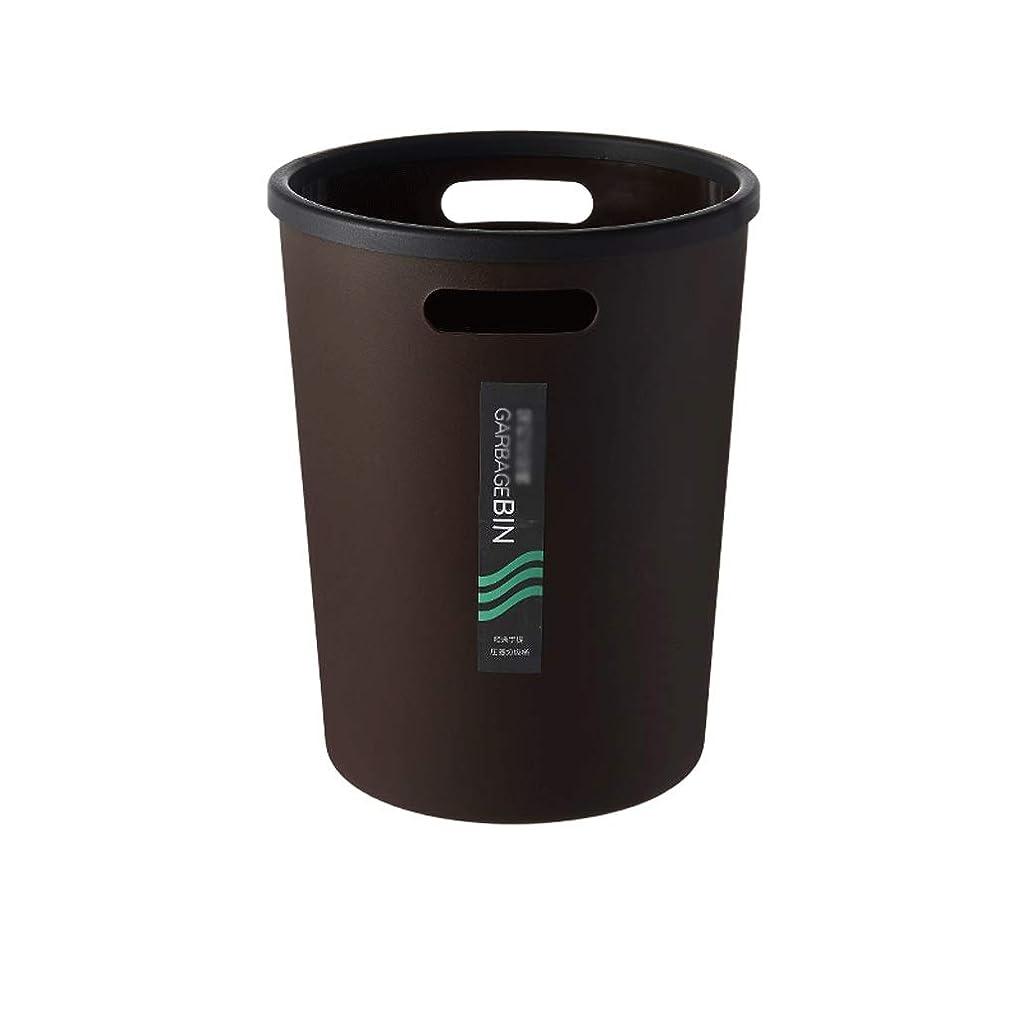 多用途タンク旅ゴミ箱の分類 ゴミ箱、ハンドル付き、ふた二重あさり古紙バスケットホームベッドルームリビングルームゴミ箱プラスチック 無臭 (Color : Black)
