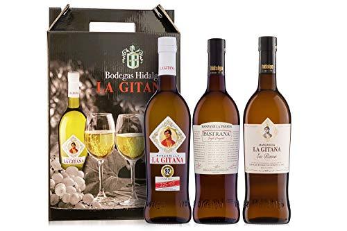 Pack 3 Botellas 75 Cl. - Manzanilla La Gitana + En Rama + Pastrana - Bodegas Hidalgo La Gitana