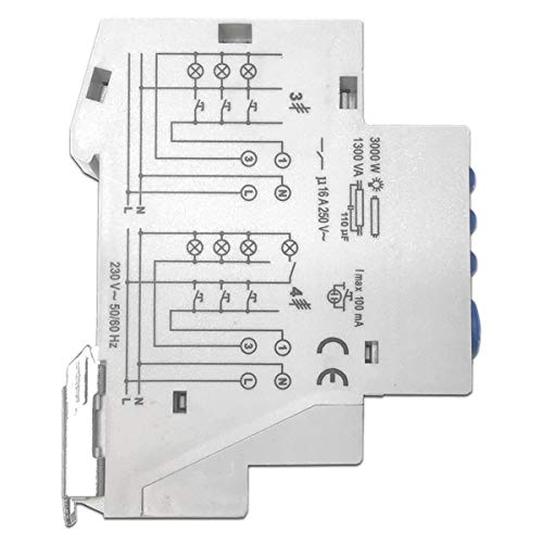Minutero de escalera Temporizador Telerruptor KTMCA-3000: Amazon.es: Bricolaje y herramientas