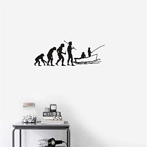 Wandtattoo Schlafzimmer Angeln Aufkleber Evolution Auto Fisch Rod Aufkleber Angelhaken Poster Hunter Bass Parede Decor Wandaufkleber für wohnzimmer