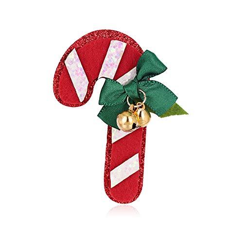 WFZ17 - Broches para ramillete de bastón de caramelo navideño