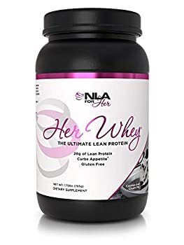 NLA Her Whey Protein  Cookie & Cream Pie  - 2.2 lbs - Lean Whey Isolate for Women- w Aminos & Vitamins Recovery Builds Lean Muscle Curbs Appetite  30 21g Protein Servings or 18 XL 28g Servings