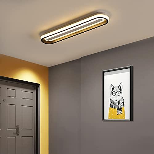 WFSH Lámpara de Sala de Estar Luz de Techo Dimmable Blanco/Negro Lámpara de Techo Ajustable Moderna Chic Chic Lámpara para Comedor Dormitorio Cocina Moderno
