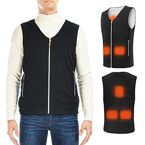 ISOPHO Ogrzewana kamizelka damska, męska, ogrzewana kamizelka USB, ogrzewana kamizelka unisex, ogrzewana kamizelka z 3 regulowanymi temperaturami, ogrzewana kurtka zimowa do aktywności na świeżym powietrzu, wędrówek (bez baterii)