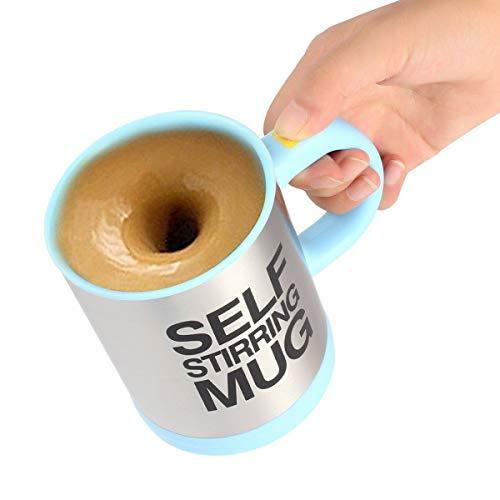 Zeerkeer Self Stirring Coffee Mug,Die selbstrührende Tasse Die selbstrührende Tasse Lazy Mug Electric Stainless Steel Automatic Mixing Weihnachten Geschenk für Travel Home Office400ml/8oz(Blau)
