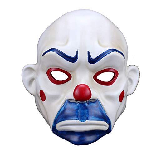 X&MX Harz Halloween Maske Clown Robber Maske Joker Traurig Film