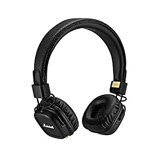 Marshall Major II Bluetooth Headphones, Collapsible Wireless On-Ear Headphones, with 30+ Hours of Portable Playtime and Built-in Microphone and Control Knob, Black (B01BVD3IT4)   Amazon price tracker / tracking, Amazon price history charts, Amazon price watches, Amazon price drop alerts