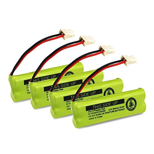 Kruta BT183482 BT283482 Cordless Phone Battery for Vtech DS6401 DS6421 DS6422 DS6472 LS6405 LS6425 LS6426 LS6475 LS6476 89-1348-01-00 Cordless Phone Handset (Pack 4)
