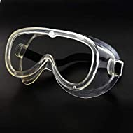 Safety Goggles Eyes Protection Glasses - Clear Anti Fog,Scratch,Mist,Wind UV Protection Goggles for Work,DIY, Lab, Welding, Grinding, Cycling (NO Breathing Valve 1 Piece)