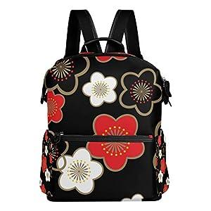 41eJ9xvxsPL. SS300  - Mokale Sakura Japanese New Pattern Seamless Vector,Mochila para portátil Mochila con Correa de Cuero Mochila Escolar…