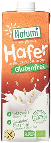 Natumi Haferdrink Glutenfrei Ungesüßt Haferdrink Bio Veganer Milchersatz, Neutral, 1 ltr (10er Pack)