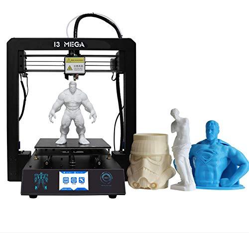 ZIHENGUO Imprimante 3D, KIT d'impression Bricolage de Haute précision I3 Mega, Plateforme entièrement en métal avec lit Chauffant Ultrabase et écran Tactile de 3,5 Pouces