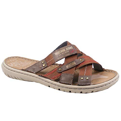 MUSTANG 4134-701 Schuhe Herren Pantoletten Clogs, Schuhgröße:50 EU, Farbe:Braun