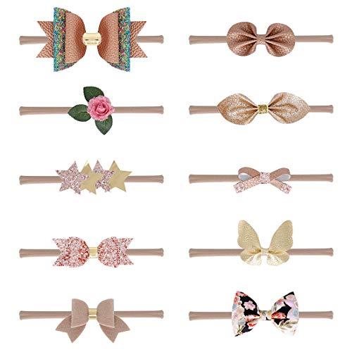 JMITHA Baby Stirnbänder baby schmuck mädchen Baby Stirnband Infant Circle Stirnband Stretch Haarband Headwear (B)