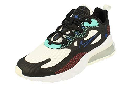Nike Air Max 270 React Uomo Running Trainers CZ7344 Sneakers Scarpe (UK 10 US 11 EU 45, Black White Hyper Royal 001)