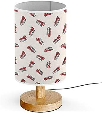 ARTSYLAMP - Wood Base Decoration Desk Table Bedside Light Lamp [ Transportation Theme Firetruck Cartoon ]