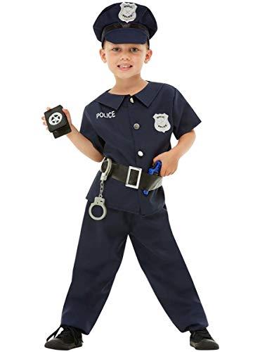 Funidelia | Disfraz de policía para niño Talla 7-9 años ▶ Guardia, Agente, FBI, Profesiones - Azul