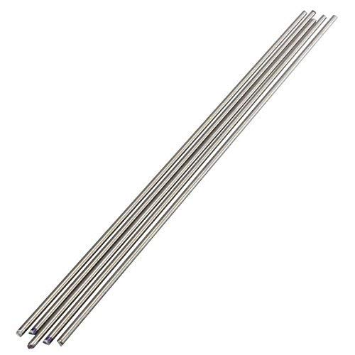 LTKJ 5pcs Titanium Ti Grade 5 Gr.5 GR5 Metal Rod Diameter 3mm, Length 25cm 10 Inches