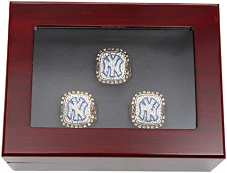 RECHIATO Championship Rings Display Case Wooden Display Ring Box Sports Rings Display Case 3 product image