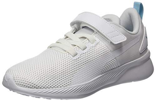 Puma Flyer Runner V Ps, Unisex-Kinder Sneaker, Weiß (Puma White-High Rise-Gulf Stream-Puma Black 08), 30 EU