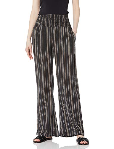 Billabong Women's New Waves Stripe Pant, Off Black, LG