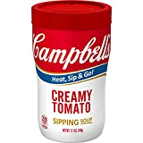 Enjoy the timeless comfort of classic cream-enriched tomato soup wherever you are Heat-and-go cup fits perfectly in your hand for take-anywhere convenience Excellent source of Vitamin C, no artificial colors or flavors, no MSG Skip the spoon: Just mi...