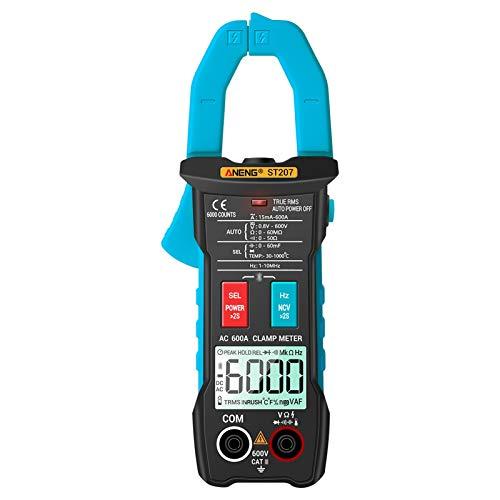 Kshzmoto - Pinza amperimétrica de Valor eficaz Verdadero con aplicación, Control Remoto, multímetro Digital de Rango automático, Detector de Voltaje CC/CA, medidor de amperios de CA con capacitanci