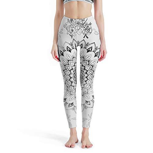 NC83 Dames Patternen Leggings Retro Ultrazachte Boho Blooms Mandala Sportbroek Workout Fitness Thermo Leggings Dames - Romantic