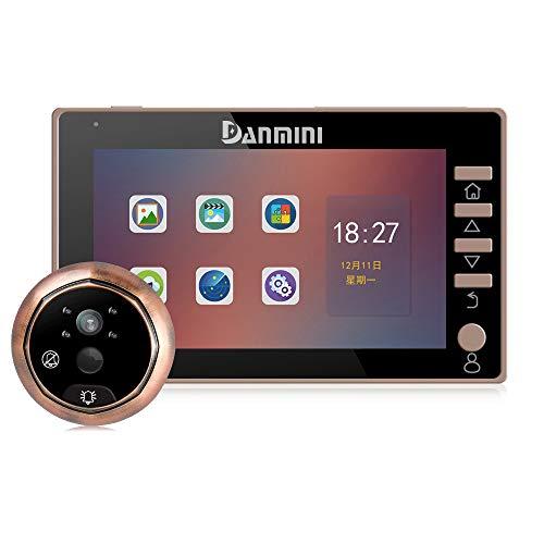 Visor de Puertas Peephole Video Timbre de la Puerta Visor de mirillas Digital Smart Vision Monitor con 3MP Gran Angular de 120 /° visi/ón Nocturna por Infrarrojos para el Home Office Hotel