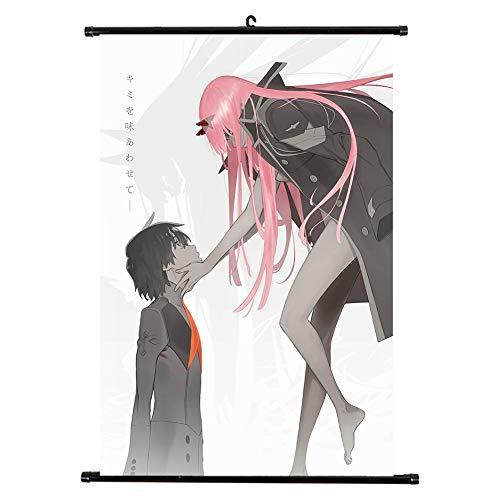 Haushele OFD Japanische Anime Darling in The FRANKXX leinwand wasserdicht raumdekoration Totoro Mob Psycho 100 Sammlung Shop Thema Dekoration Poster gemälde(H02)