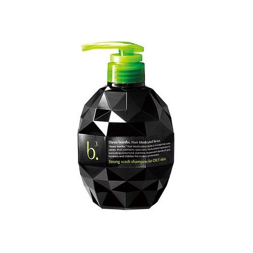 Three Bombs Scalp Care Shampoo Strong Wash Shampoo For Oily Skin 450Ml by Japan...