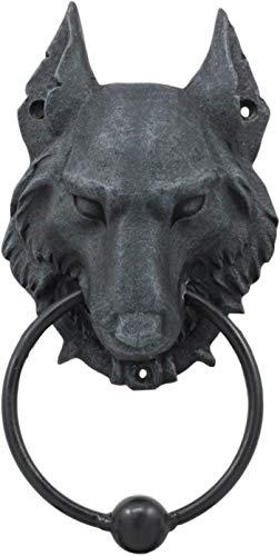 Pacific Giftware 8.5 Inch Evil Wolf Gargoyle Resin Door Knocker Statue Figurine