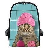 Mini Mochila Mochila de baño Mochila para Gatos Mochila Bolsa Ligera para niñas Niños