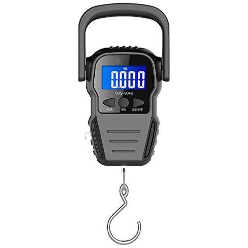 YZSHOUSE 50kg Digital Balanza Electrónica Mini Portátil Balanza De Cocina Alta Precisión Escala De Gancho Balanza De Resorte para Entrega Urgente Equipaje Pescar