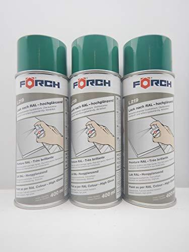 Förch TÜRKISGRÜN GRÜN TÜRKIS RAL 6016 Lack LACKSPRAY Spray SPRAYDOSE 400ML (3)