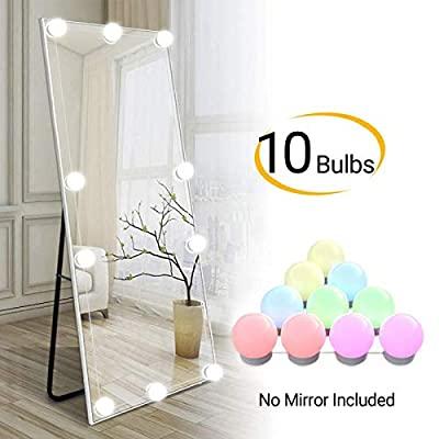 Pretmess Vanity Mirror Light, RGB Colorful DIY Hollywood Style LED Makeup Mirror Lights with 10 Dimmable Light Bulbs,USB Cable, RGB (Mirror Not Include)