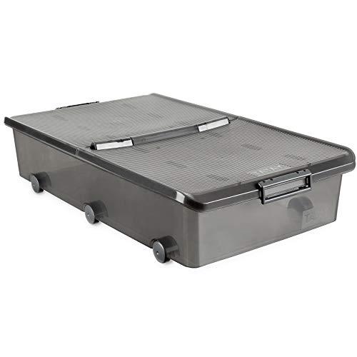 TATAY 1151114 - Aufbewahrungsbox für unter das Bett mit Rollen, 63 l