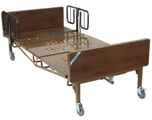 """Drive Medical Heavy Duty Bariatric Hospital Bed, Brown, 42"""""""