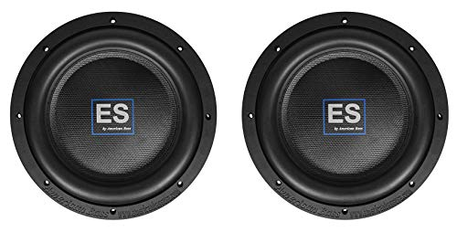 "2) American Bass ES 1044 10"" 1000w Shallow Slim Car Subwoofers 4-Ohm Subs ES1044"