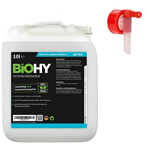 BIOHY intensieve reiniger universeel 10 liter jerrycan + kraan | high-performance industriële reiniger | basisreiniger ideaal voor hogedrukreinigers